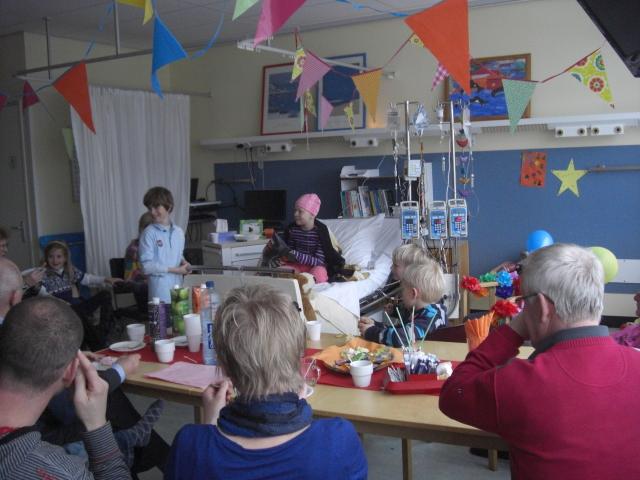 De feestzaal in het ziekenhuis