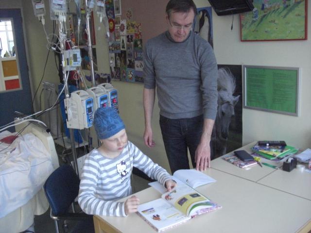 Wiskunde les in het ziekenhuis incl. (zieken)huiswerk