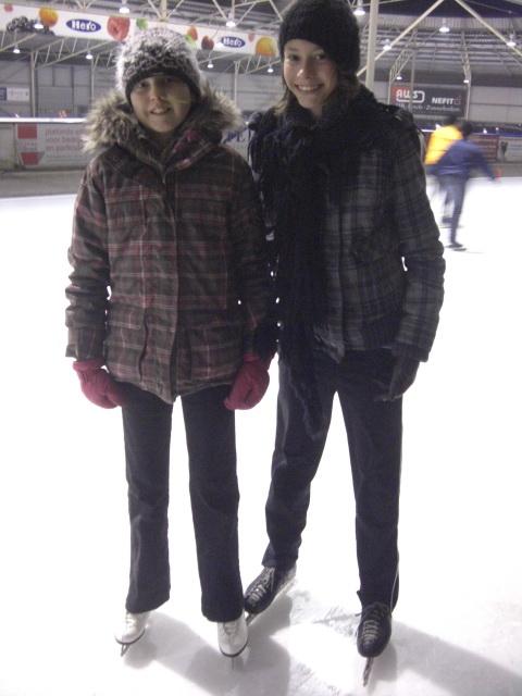 Samen op de schaats gaaf he!